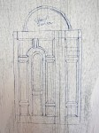 Sketch of the front door