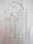 Sketch of the front door