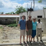Site visit with friends and donors, Steve Hord & Lew Gray